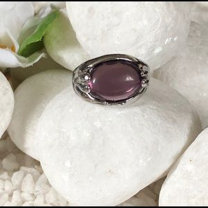Jewelry - 🌸🛍SILVER PLATED NATURAL AMETHYST RING🌸